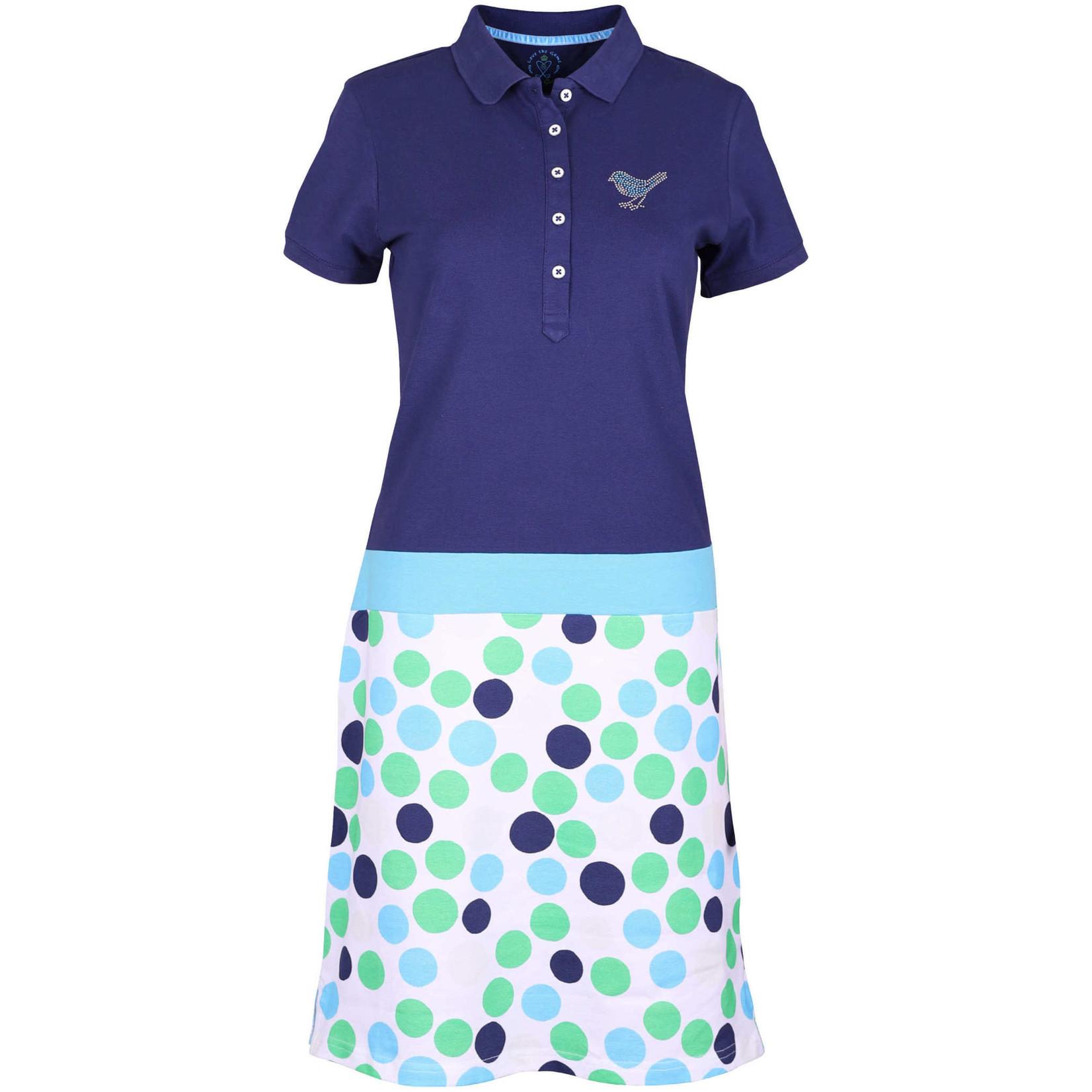 Girls Golf Girls Golf Dress polka dot blue polka dot blue XL
