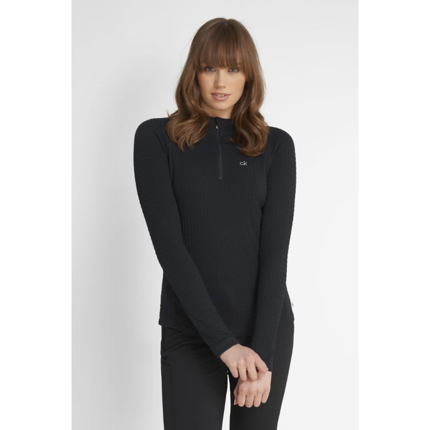 Calvin Klein Calvin Klein Mina Zip Neck Polo - Black