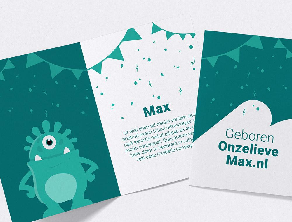 Interactive baby announcement card 'Original'