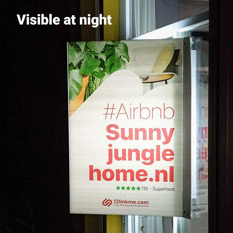 Extra opvallen met een 's avonds verlicht TE KOOP-bord in je eigen ontwerp