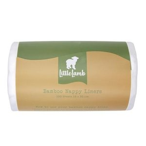 Little Lamb Bamboe inlegvellen 100st