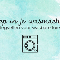 Geen poep in je wasmachine!