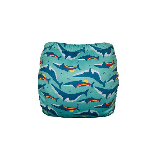 Totsbots Totsbots zwemluier Rainbow whale