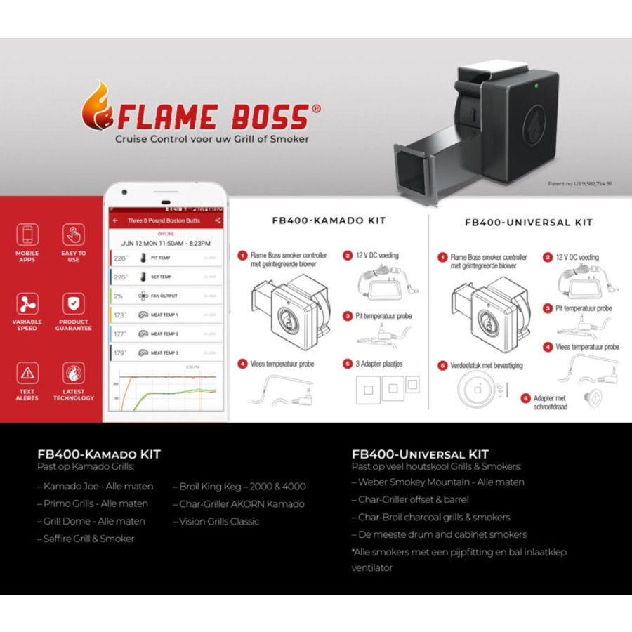 Flame Boss 400 WiFi Temperatuurregelaar-2