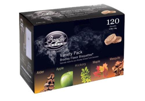 Bradley Flavor Bisquettes variatie pakket 120 st.