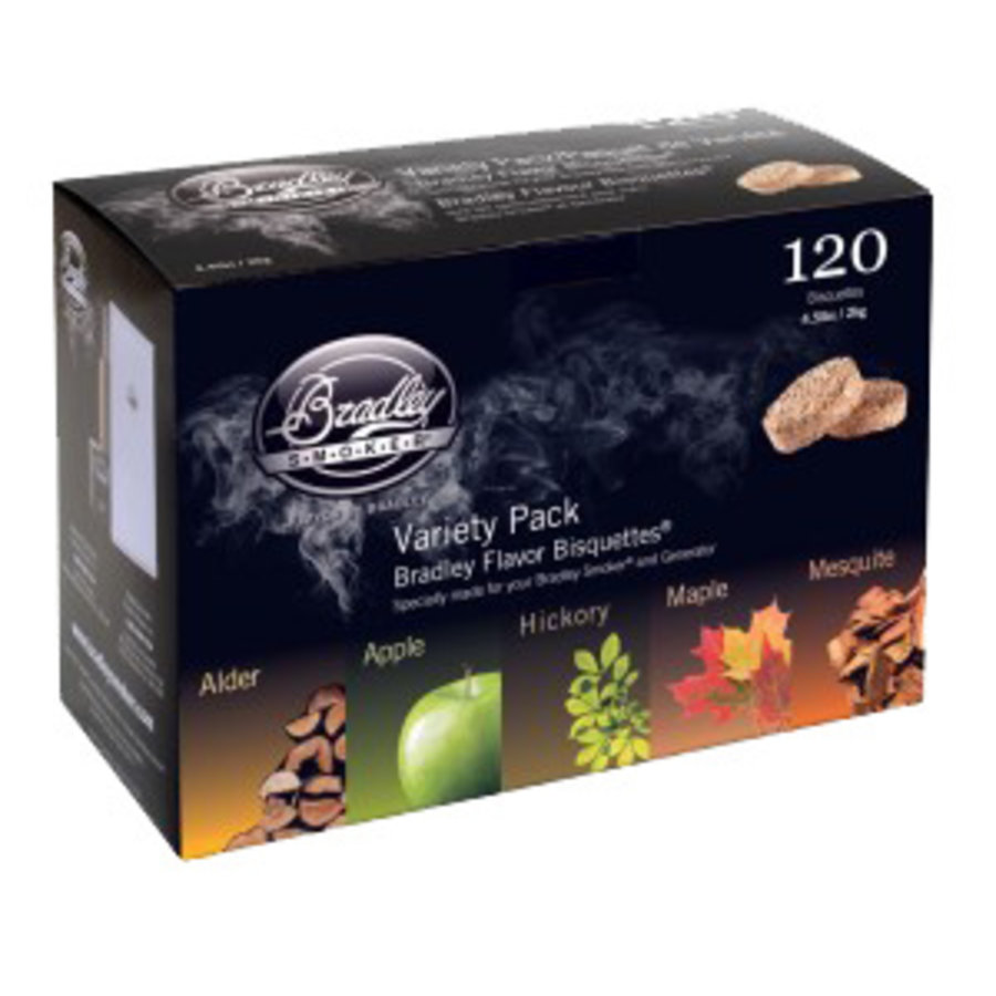 Bradley Flavor Bisquettes variatie pakket 120 st.-1