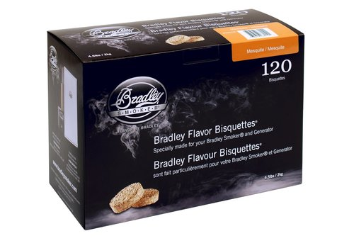 Bradley Briketten Mesquite 120 Stuks
