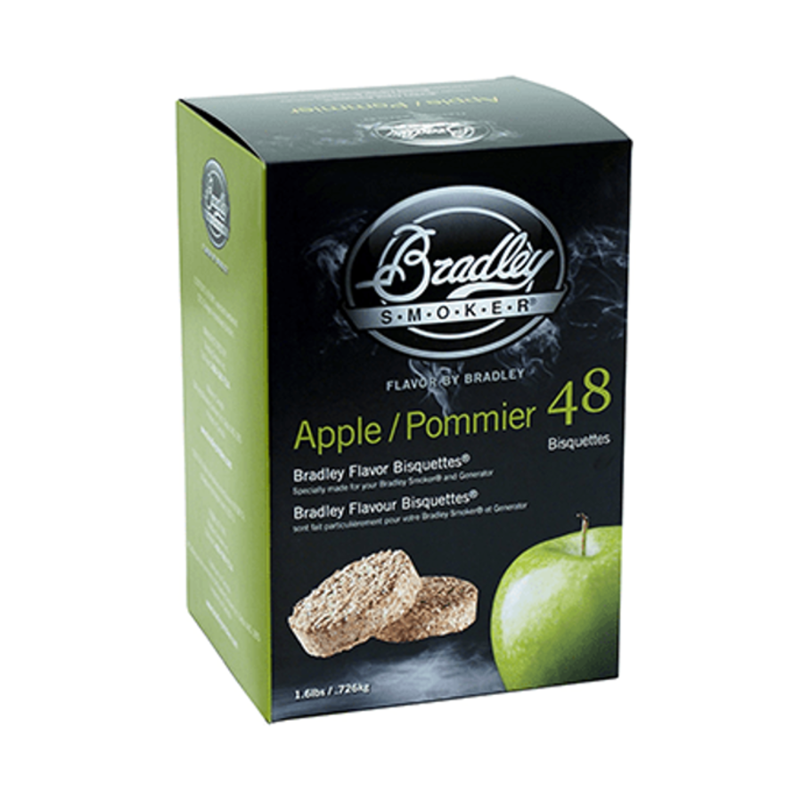 Bradley Briketten Appel 48 Stuks-1