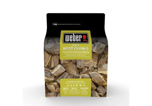 Rook chunks Appel 1,5 KG Weber