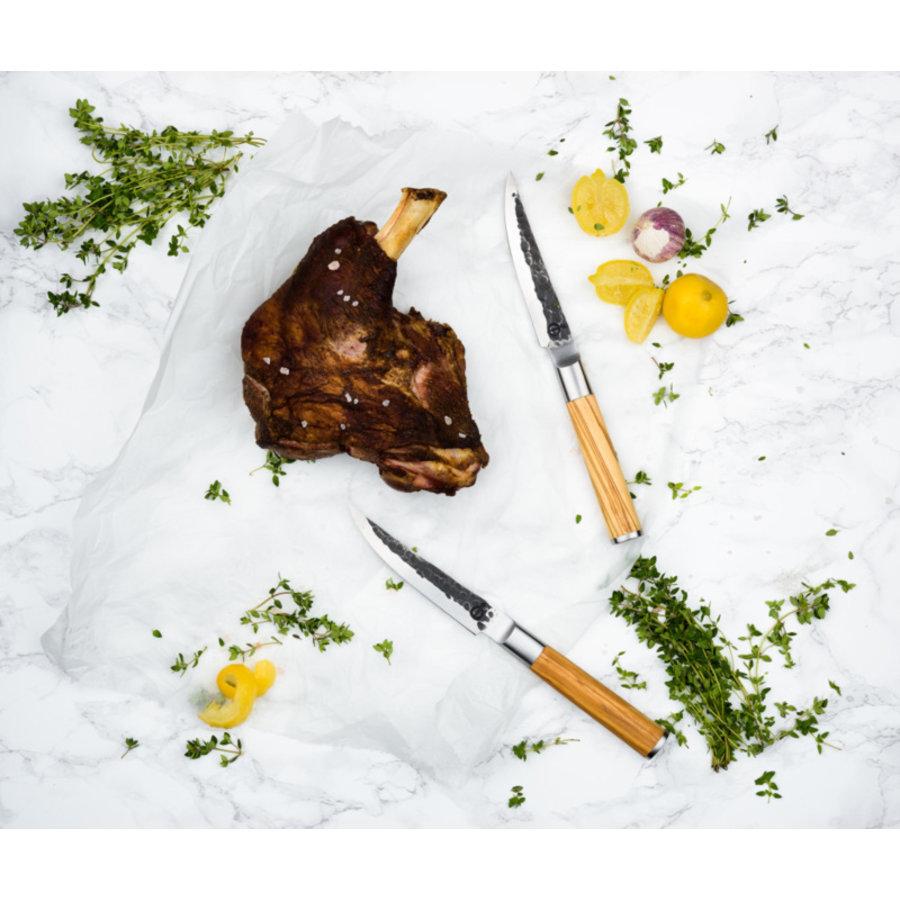 Olive Forged Steak Messen Set 4 stuks-3