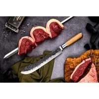 thumb-Olive Forged Slagersmes / Butcherknife-3