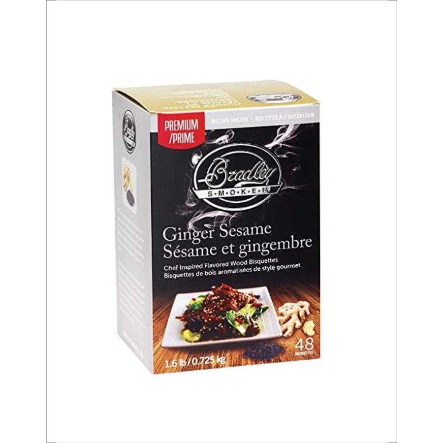 Bradley Briketten Gember Sesam / Ginger Sesame 48 stuks-1