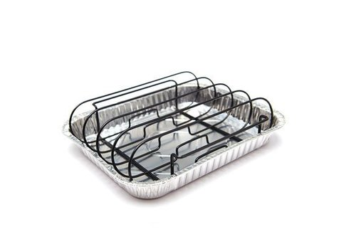 Grill Pro Rib Rack met 3 drip trays