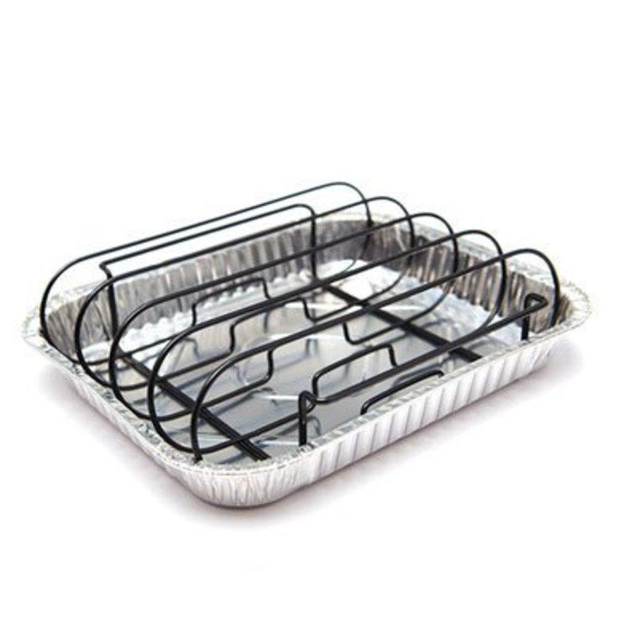 Grill Pro Rib Rack met 3 drip trays-1