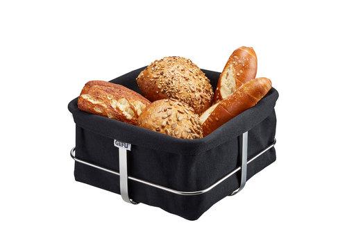 Broodmand Brunch, vierkant, zwart