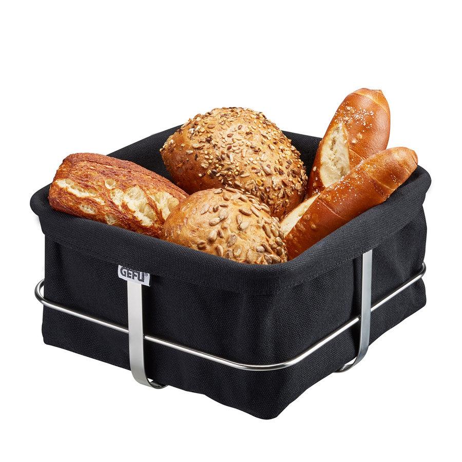 Broodmand Brunch, vierkant, zwart-1