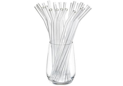 Glazen rietje Future (25 stuks) incl. borstels