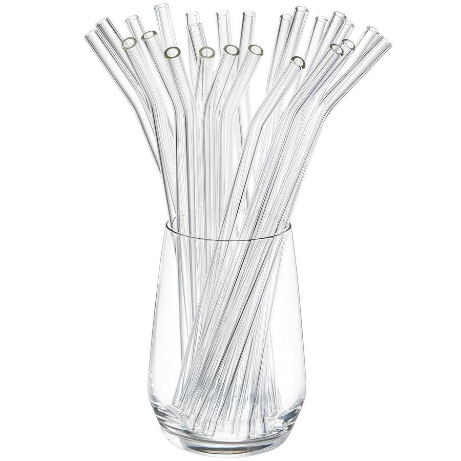 Glazen rietje Future (25 stuks) incl. borstels-1
