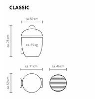 thumb-Monolith Grill Classic BBQ Guru Pro-Serie 2.0 - Black Standalone-2