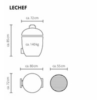 thumb-Monolith LeChef BBQ Guru Pro-Serie 2.0 - Black Standalone-2