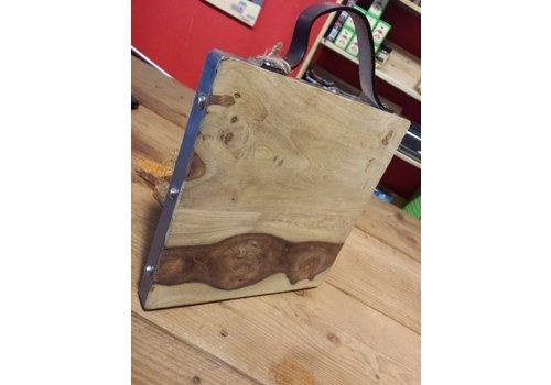 Serveerplank/Snijplank olijfhout 24x24 cm