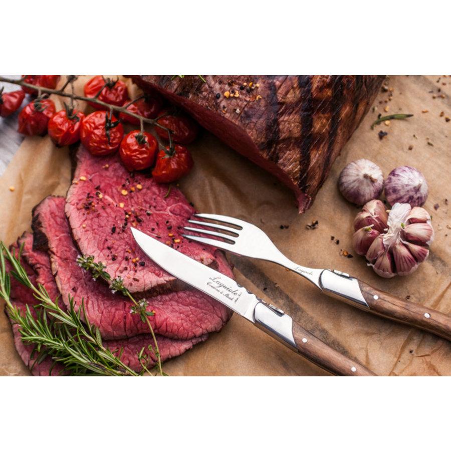 Laguiole Luxury Line Steakmessen - Olijfhout-2