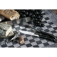 thumb-Laguiole Luxury Line Steakmessen - Zwart Ebbenhout-3