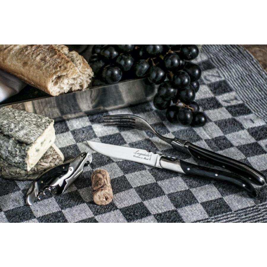 Laguiole Luxury Line Steakmessen - Zwart Ebbenhout-3