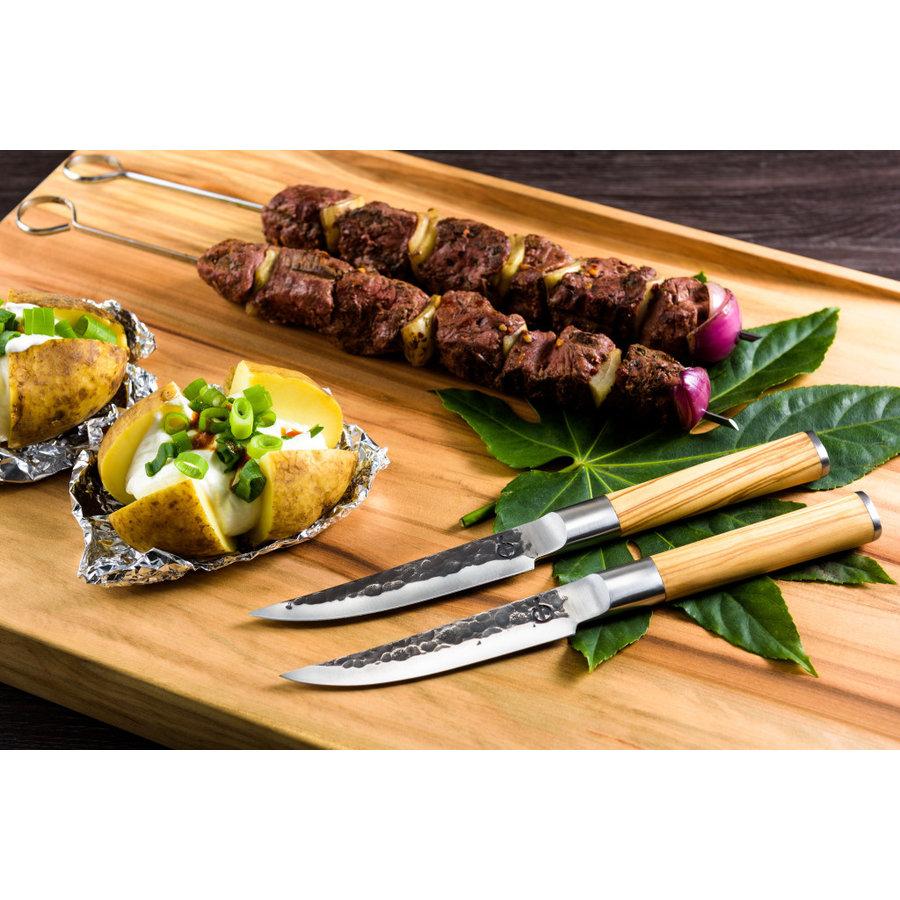 Olive Forged Steak Messen Set 4 stuks-2