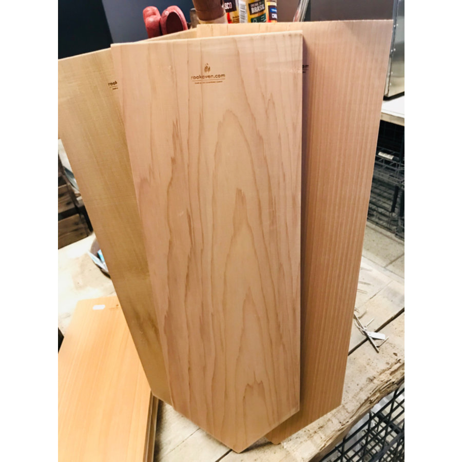 Koken op Hout Around the Fire Cedarwood Plank-2
