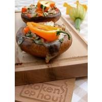 thumb-Koken op Hout Cedarwood Ovenplank L-3