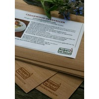 thumb-Koken in Hout Cedarwood Vellen (per 5)-1