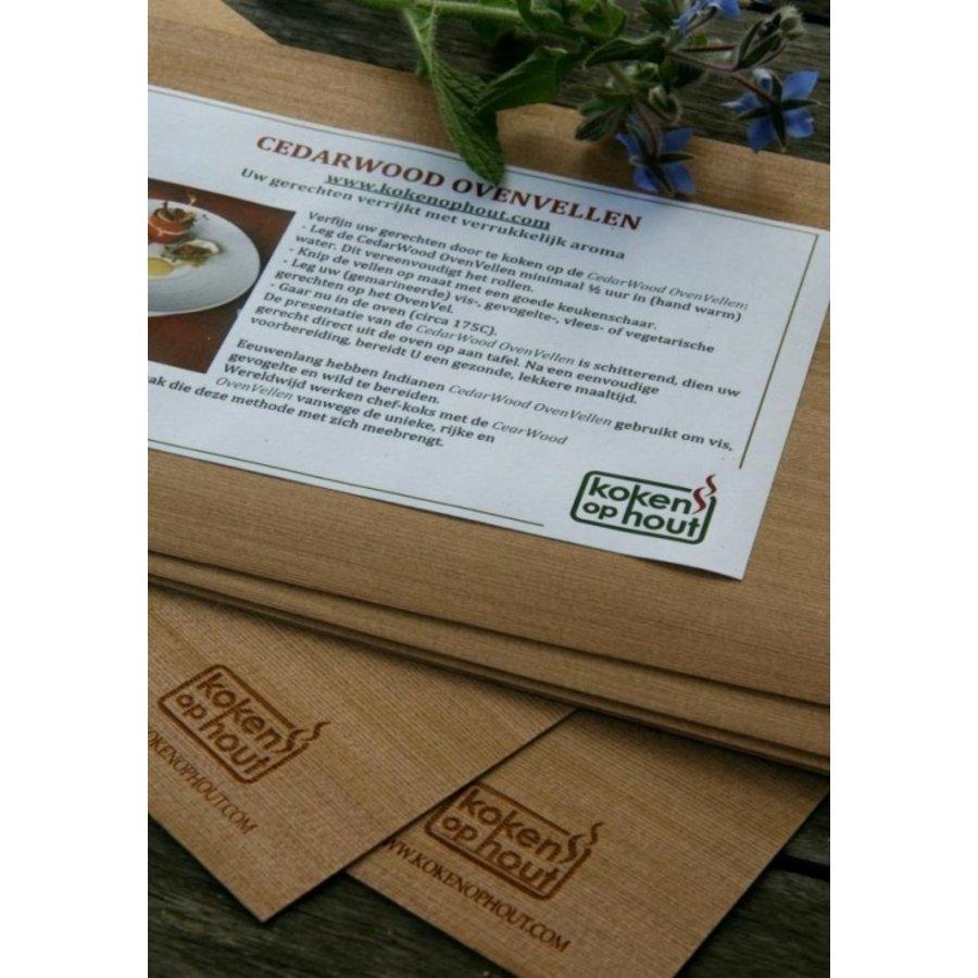Koken in Hout Cedarwood Vellen (per 5)-1