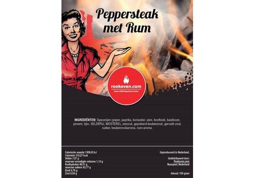 Peppersteak met Rum Rub
