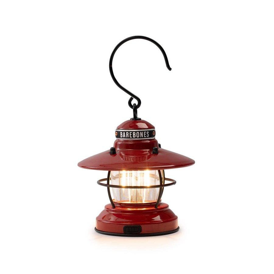 Barebones Mini Edison Lantern Red-3