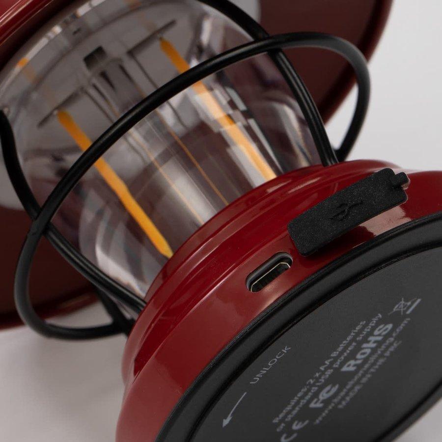 Barebones Mini Edison Lantern Red-8