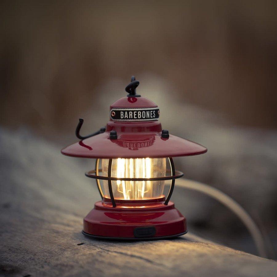 Barebones Mini Edison Lantern Red-9