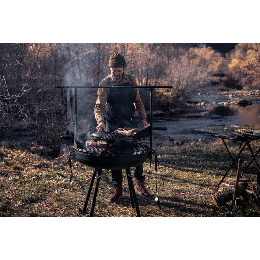Barebones Cowboy Fire Pit Grill-9