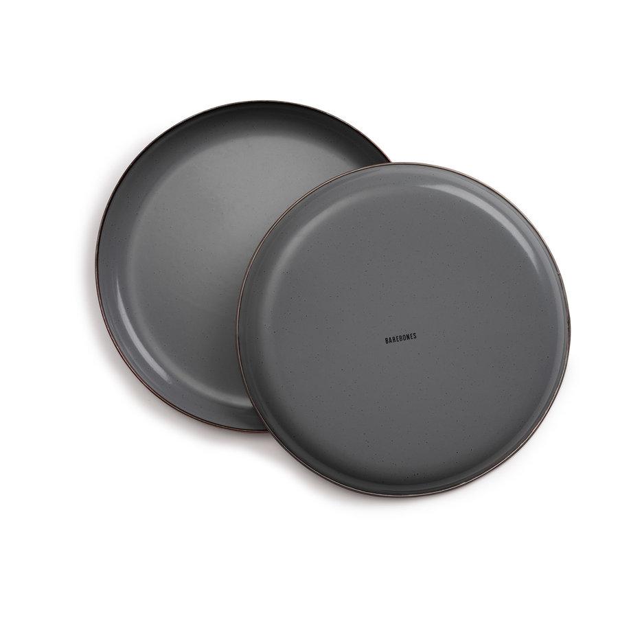 Barebones Emaille Bord 2 pcs. Stone Grey-6