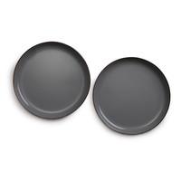 thumb-Barebones Small Emaille Bord 2 pcs. Stone Grey-9