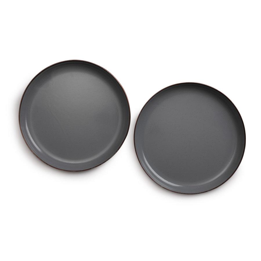 Barebones Small Emaille Bord 2 pcs. Stone Grey-9