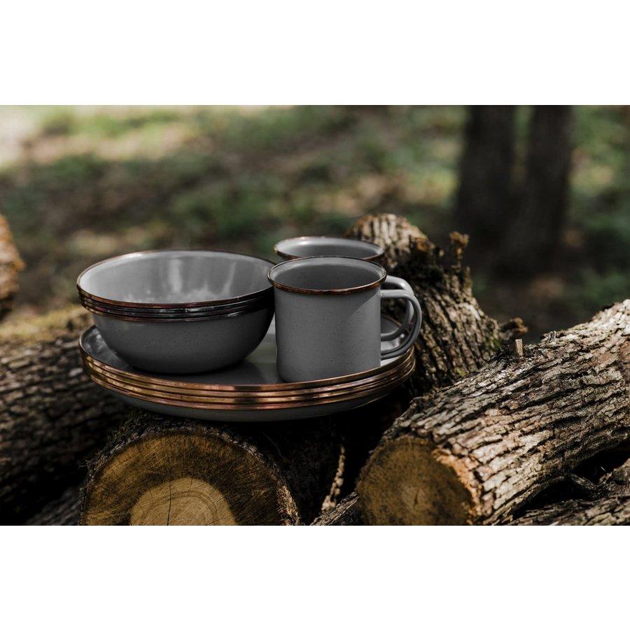 Barebones Emaille Espresso Cup 2 pcs. Stone Grey-5