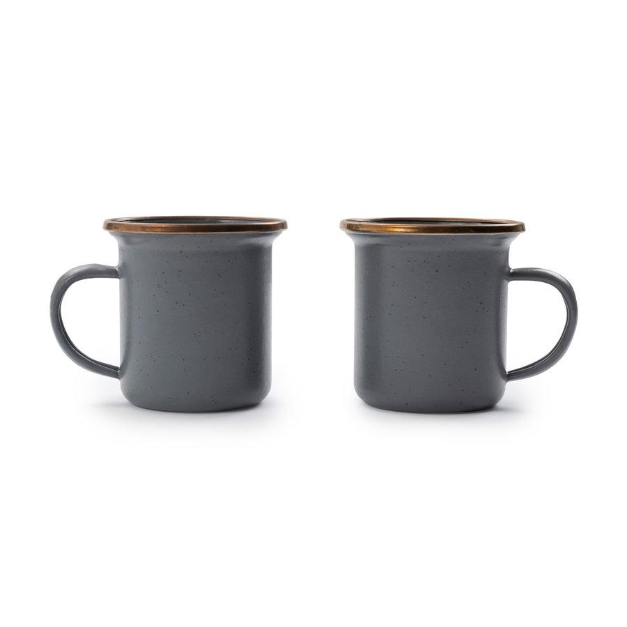 Barebones Emaille Espresso Cup 2 pcs. Stone Grey-4
