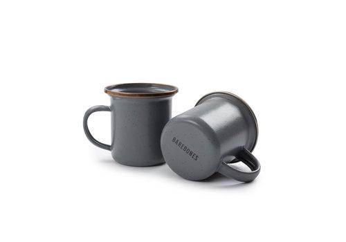 Barebones Emaille Espresso Cup 2 pcs. Stone Grey