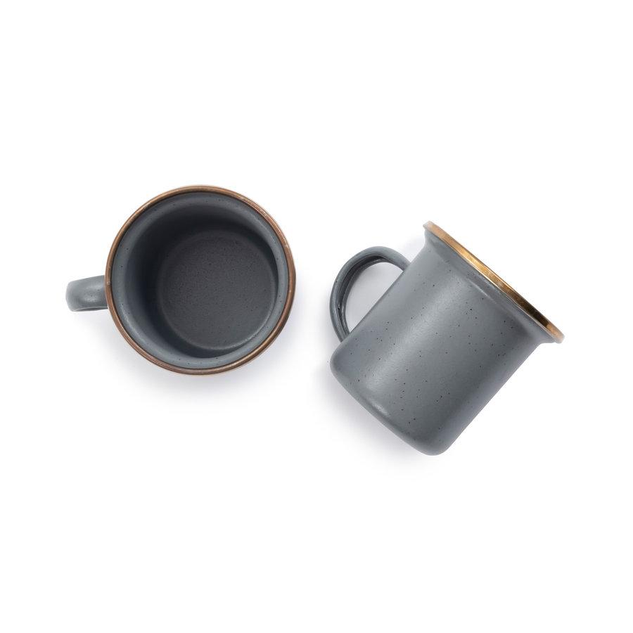 Barebones Emaille Espresso Cup 2 pcs. Stone Grey-6
