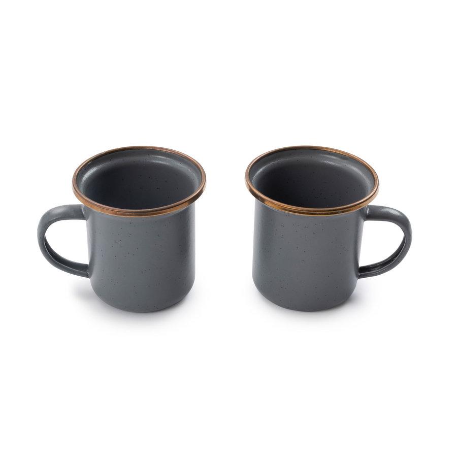 Barebones Emaille Espresso Cup 2 pcs. Stone Grey-10