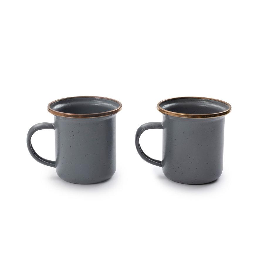 Barebones Emaille Espresso Cup 2 pcs. Stone Grey-12