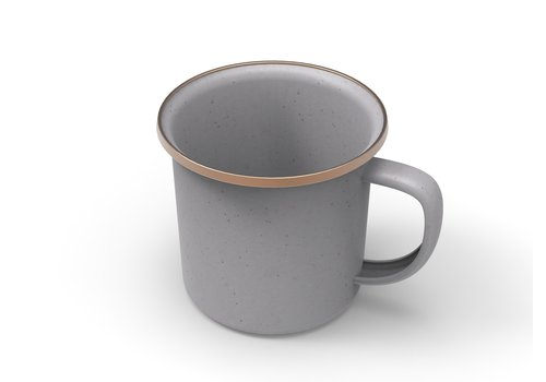 Barebones Emaille Cup 2 pcs. Stone Grey