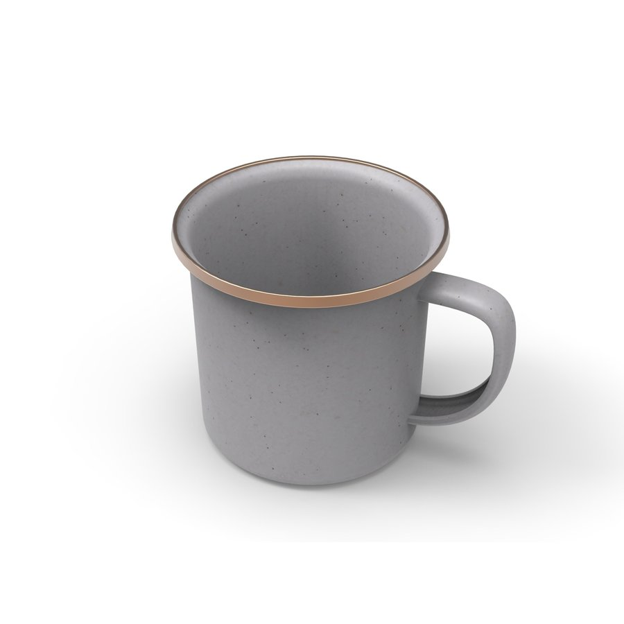 Barebones Emaille Cup 2 pcs. Stone Grey-1