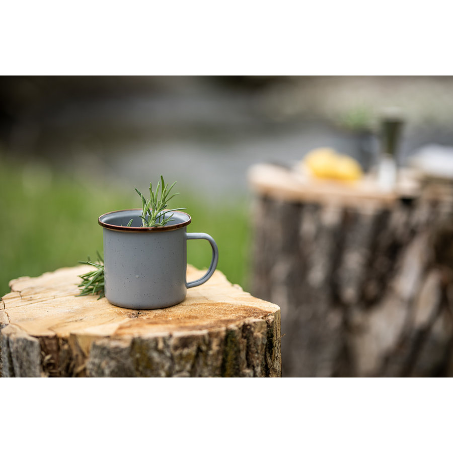 Barebones Emaille Cup 2 pcs. Stone Grey-7